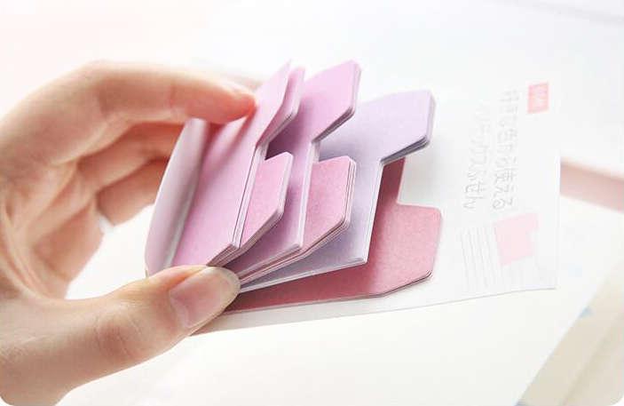 手帳の端にちょっと貼っておくとすぐにめくれる付箋の目次。